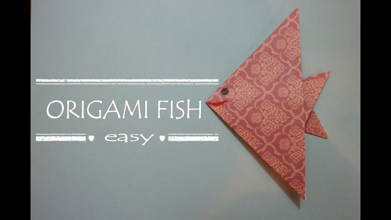 how to make a paper fish easy
