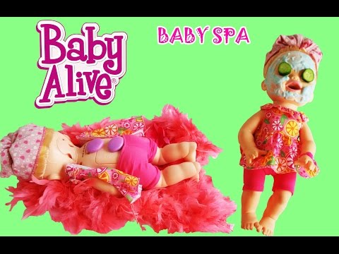 BABY ALIVE SNAKIN SARA GLITTER SPA FACE AND FEET BARBIE SPA