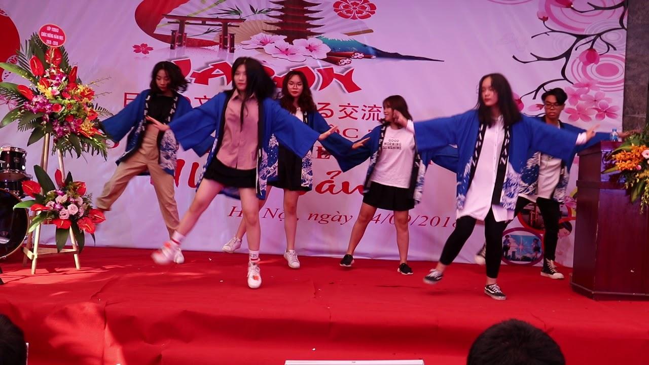Trường THPT Hoàng Long(Hà Nội Tokyo) –  Điệu nhảy Yosakoi Nhật Bản Năm 2018 – 2019