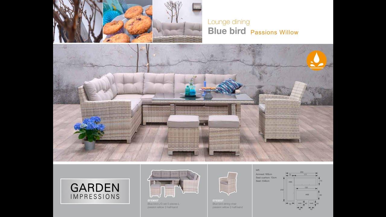 garden impressions blue bird lounge dining youtube. Black Bedroom Furniture Sets. Home Design Ideas