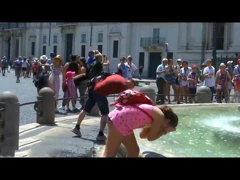 Extreme heat waves hit Europe