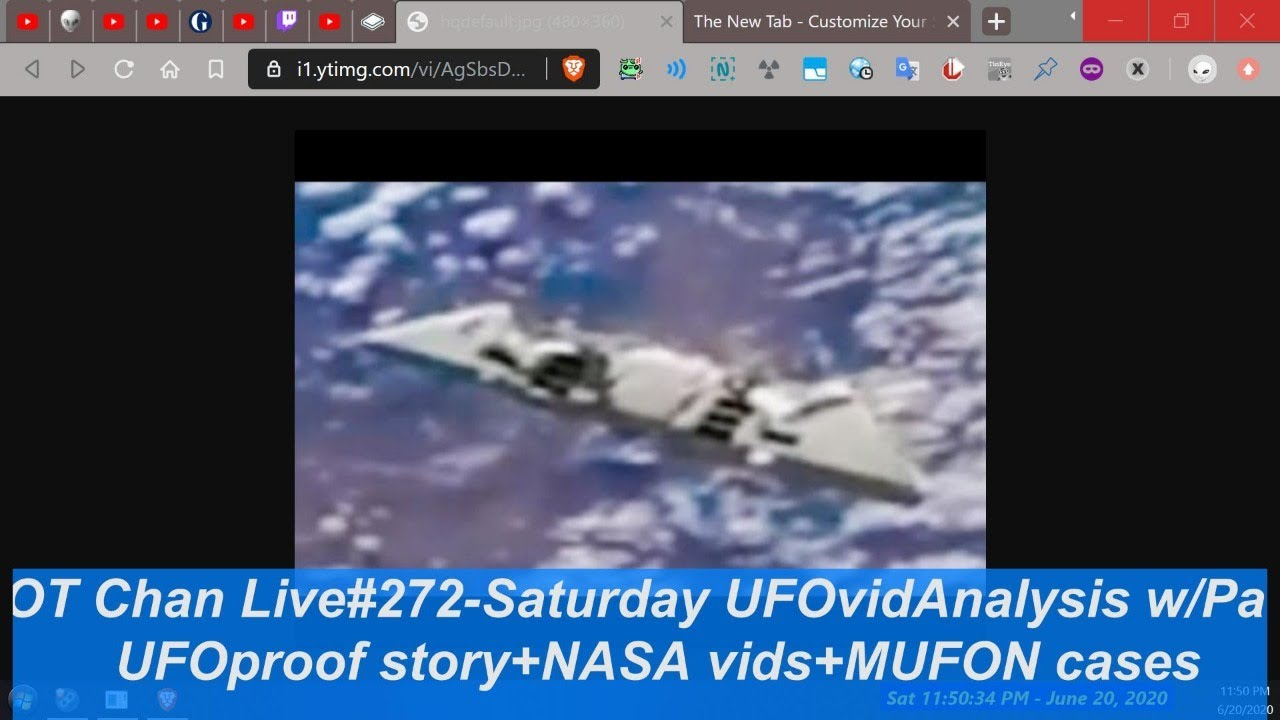 Saturday Live UFO Topics & Vid Analysis - UFOproof Story BS+ NASA vids + MUFON ) - OT Chan Live#