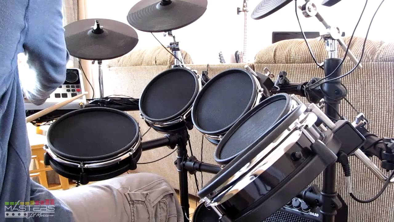 review alesis dm10 electronic drum kit 2016 youtube. Black Bedroom Furniture Sets. Home Design Ideas