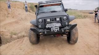 Mercedes Gelandewagen vs jeep Wrangler Rubicon The first defeat. Part 1
