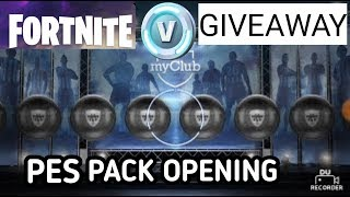 PES 2018 ANDROID PACK OPENING 😱 AND 10000+ FORTNITE V BUCKS GIVEAWAY