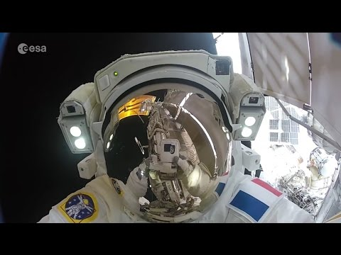 Out of this world: Thomas Pesquet's unedited spacewalk in hi