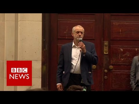 Jeremy Corbyn 'proud to be carrying on' - BBC News