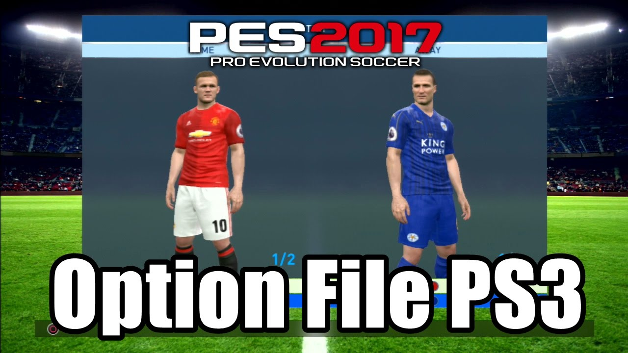 e4085752611 PES 2017 OPTION FILE PS3 BLUS and BLES - YouTube