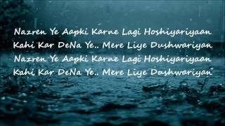 Mera Sanam Hum Deewane Hain Aapke official lyrics video