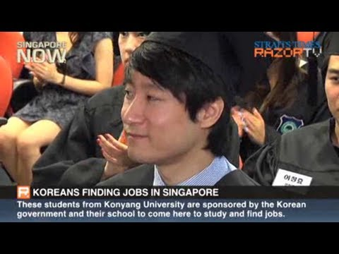 Singapore popular with Korean grads (Koreans finding jobs in S'pore Pt 1)