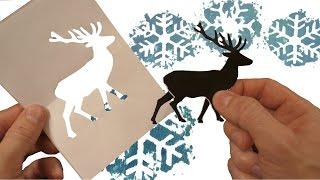 #DIY. Как сделать новогоднюю футболку с оленями своими руками