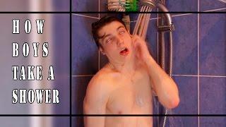 Как моются парни || How boys take a shower