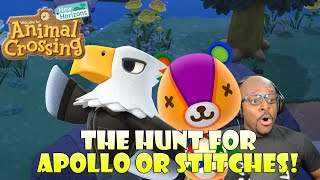 200 Nook Mile Tickets Hunting for Rare Villagers! Apollo or Stitches! | Animal Crossing New Horizons