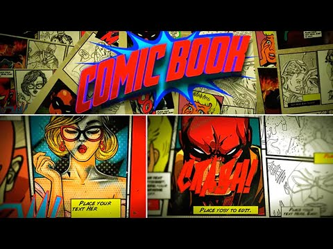 comic book template after effects template ae. Black Bedroom Furniture Sets. Home Design Ideas