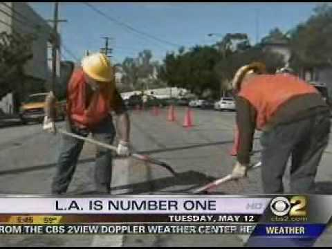 Los Angeles Number 1 in Country for Having Bad Roads