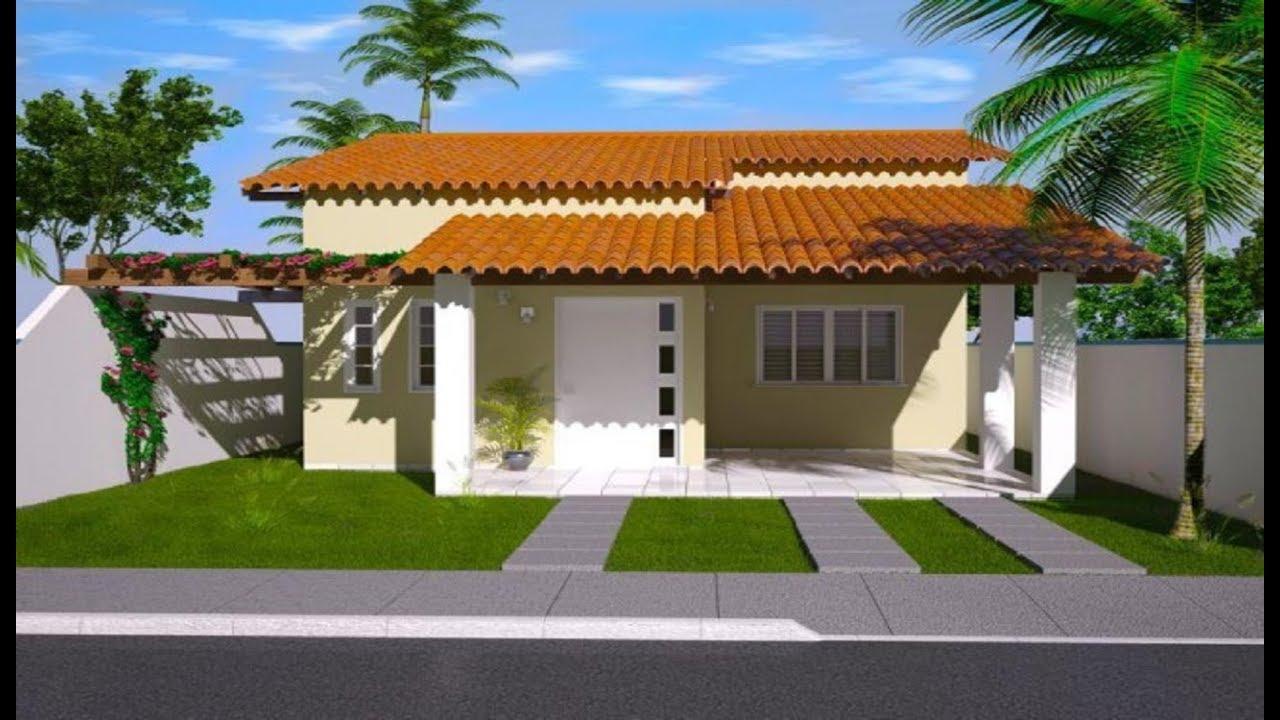 30 modelos incr veis de fachadas de casas pequenas e for Modelos de casas pequenas y bonitas