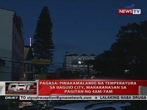 PAGASA: Pinakamalamig na temperature sa Baguio City, mararanasan sa pagitang ng 4AM-7AM