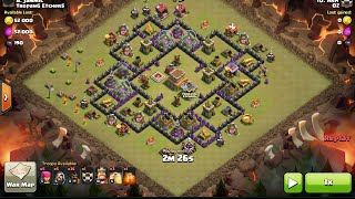 How to 3 Star Kyoukai TH8 base with Hogs, clash of clans, clan war