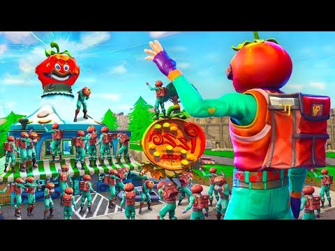 100 Player's Say Goodbye To Tomato Town In Fortnite Battle Royale (Emotional)
