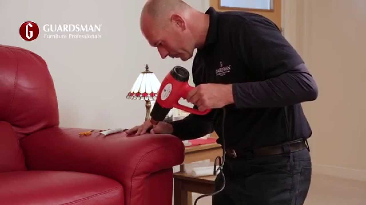 How We Repair A Tear In A Leather Sofa Guardsman In Home Care Repair Youtube