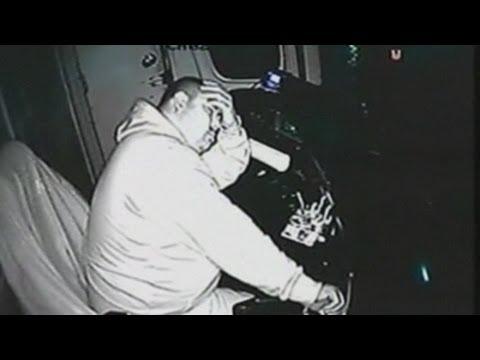 CCTV: Shocking video of train drivers sleeping