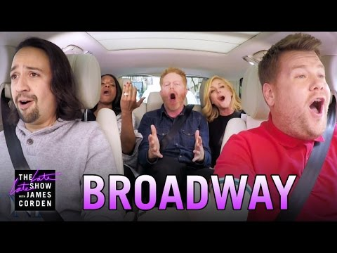 Broadway Carpool Karaoke ft Hamilton & More