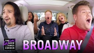 Broadway Carpool Karaoke ft. Hamilton & More(With James Corden hosting the Tony Awards, he calls on Lin-Manuel Miranda, Audra McDonald, Jesse Tyler Ferguson and Jane Krakowski to get him through ..., 2016-06-07T05:11:49.000Z)