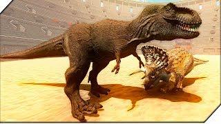 СУПЕР СРАЖЕНИЕ  ДИНОЗАВРОВ В КОЛИЗЕЕ - Игра Beast Battle Simulator. Битва динозавров.