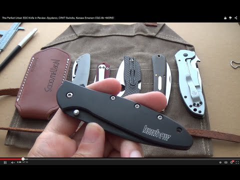 The Perfect Urban EDC Knife In Review -Spyderco, CRKT Swindle, Kershaw Emerson CQC-6k +MORE!