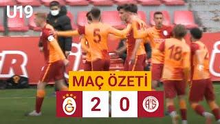 Özet | Galatasaray 2-0 F. TAV Antalyaspor | U19 Elit Gelişim Ligi
