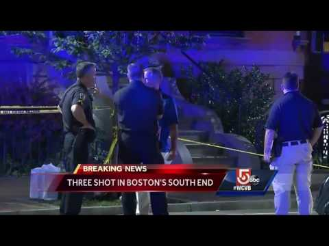 Three shot in Boston