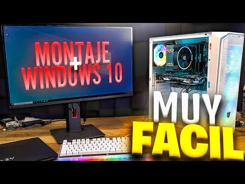 Como Montar Tu PC GAMING, INSTALAR WINDOWS 10 Y DRIVERS Paso A Paso, En 20 MINUTOS!!