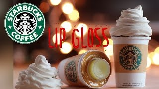 DIY Starbucks Lip Gloss - How To Make Sweet Lip Balm Coffee Cup Drink  - Polymer Clay Tutorial Thumbnail