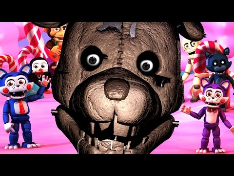 PLAY AS THE ANIMATRONICS || Five Nights at Candy's World (Five Nights at Freddys)