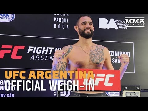 UFC Argentina Official Weigh-In Highlights - MMA Fighting