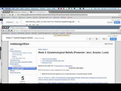 Using Google Sites, Google Groups, & Google Docs for an academic class course & wiki