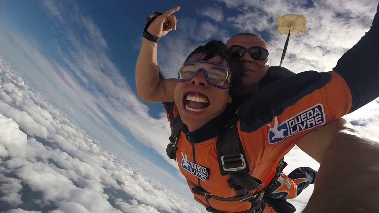 Salto de Paraquedas do Marcus na Queda Livre Paraquedismo 15 01 2017