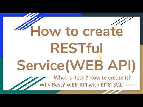 How To Create RESTful Service Or WEB API