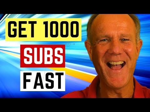 How To Get 1000 YouTube Subscribers Fast In 2019-2020