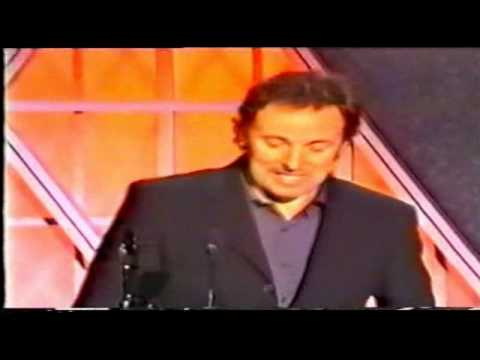 Bruce Springsteen R'n'R Hall of Fame Induction Speech (2/2)
