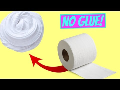 NO GLUE PAPER SLIME! Testing NO GLUE Water Slime! (WITHOUT GLUE OR BORAX)