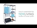 How To Assemble the Double Rod Closet System   TidyLiving.com