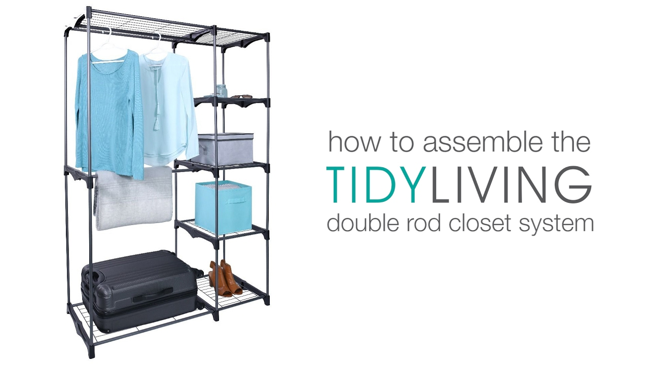 How To Assemble The Double Rod Closet System | TidyLiving.com