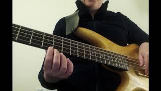 First steps to play a bass guitar