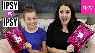 Mom vs Teen Ipsy Makeup Unboxing!