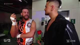 Drew Gulak finds it funny Angel Garza is walking with a rose in a leather jacket RAW May 3 2021