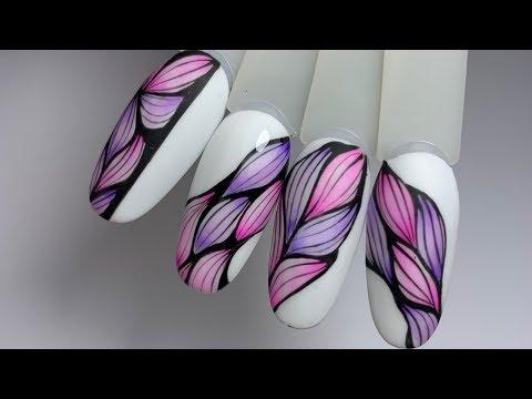 Абстракция в дизайне ногтей. Яркий дизайн на лето. Юлия Голубкова