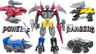 Power Rangers The Beginning Movie Figures Battle Mega Zord Transformers Combiner Dinosaur Toys