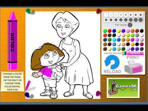 Dora The Explorer Coloring Games Dora And Mom Coloring