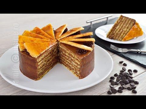 Tort Dobos |  Dobos torte (CC Eng Sub) | JamilaCuisine